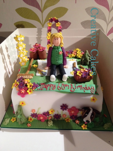just get in touch and we can create a unique and special birthday cake for the birthday girl - Garden Design Birthday Cake