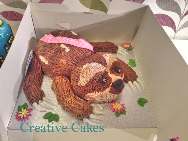 Sloth Cake Template